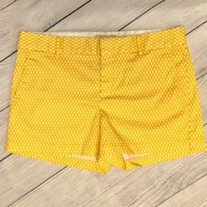 Banana Republic Yellow Martin Fit Shorts Sz 12